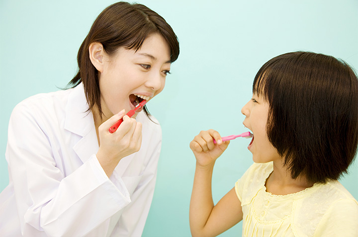 お子様 歯磨き指導